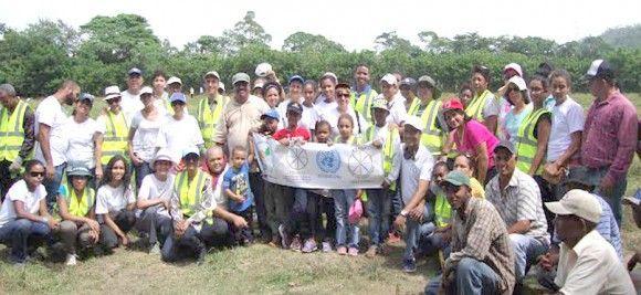 Reforestación en Bonao. Cuenca del rio Yuna