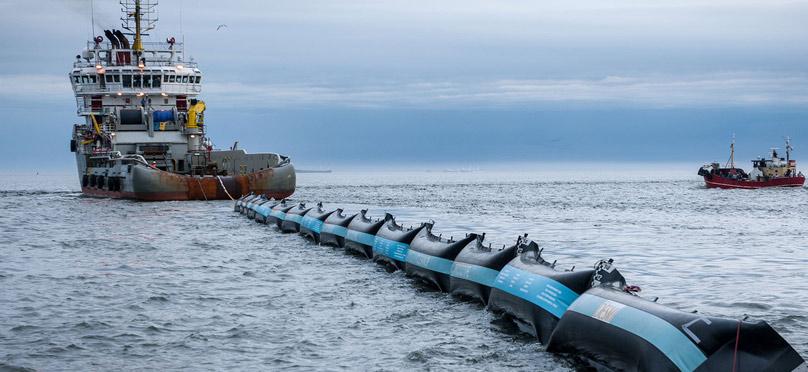 Espectacular barrera que limpiará los océanos